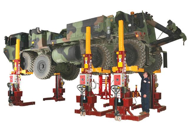 Mobile Column DC Battery Powered Truck Lift