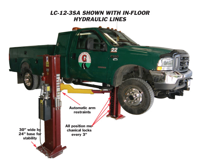 Automotive Lift Safety : Mohawk lifts lc purchase two post