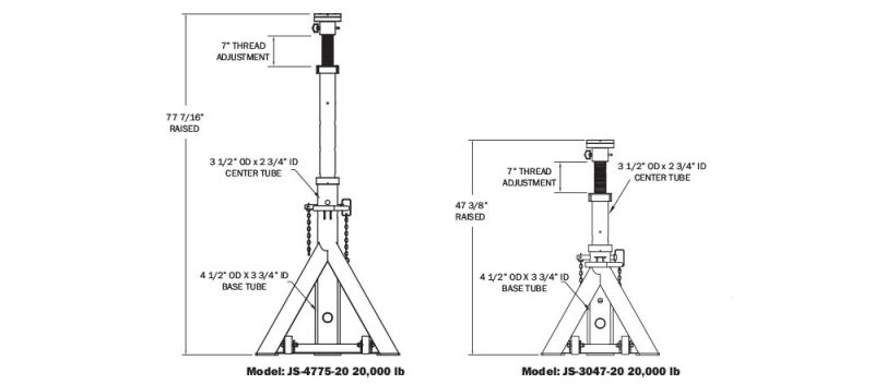 Mobile Jackstand Specs