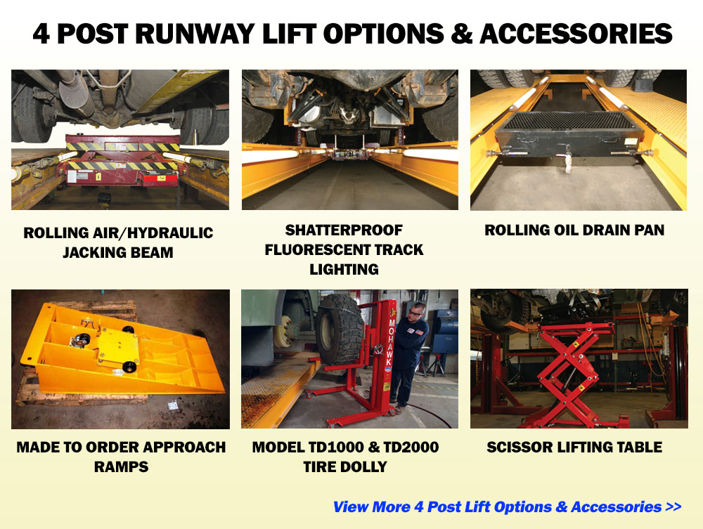 4 Post Runway Lift Options & Accessories