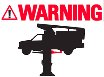 2 Post Warning Decal