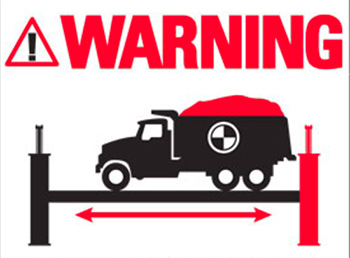 4 Post Warning Decal