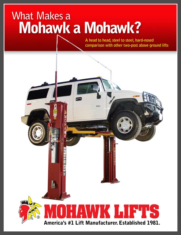 Mohawk automotive garage lifts are American made and built to last