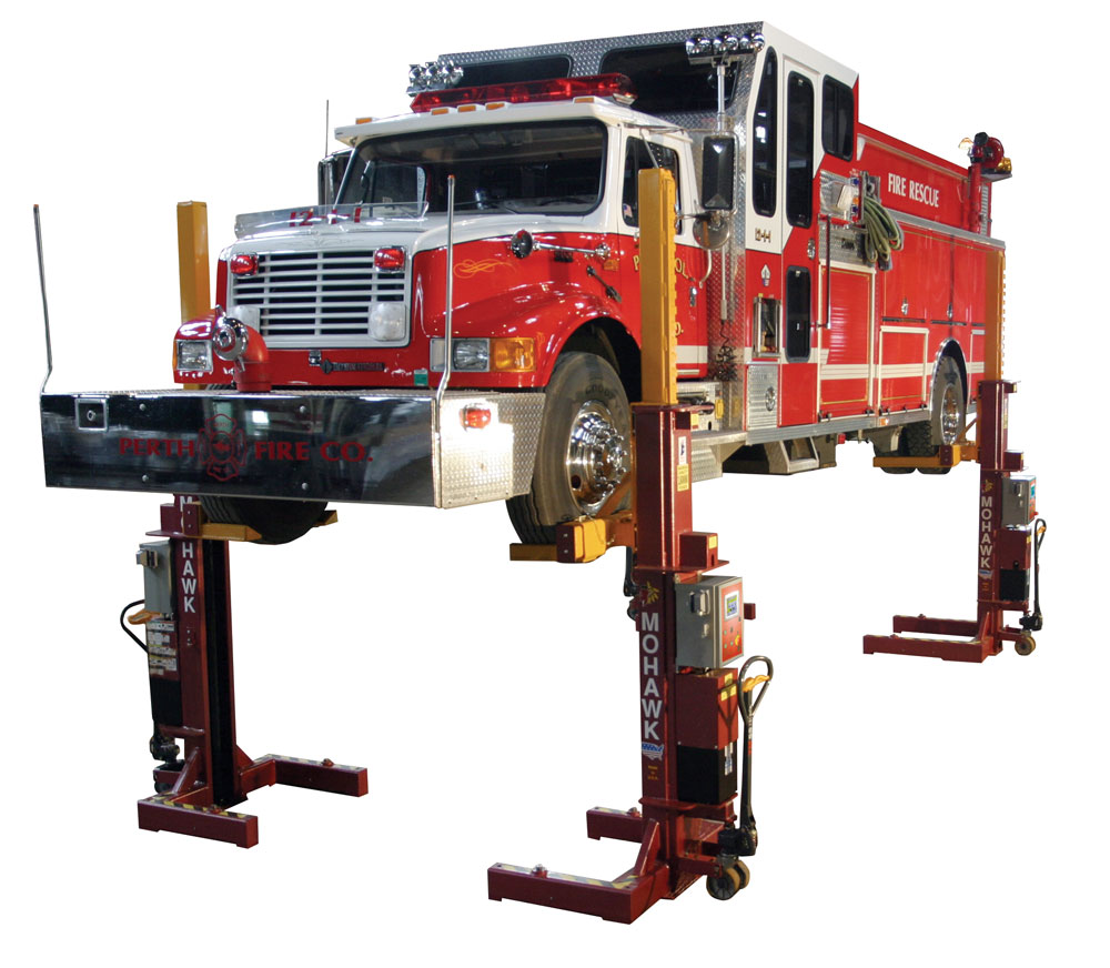 Globe Portable Auto Lift : Mobile column automotive lifts mohawk