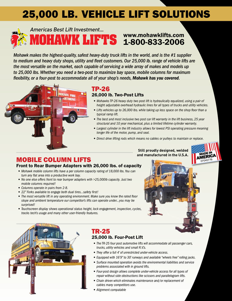 25,000 lb. Vehicle Lift Solutions