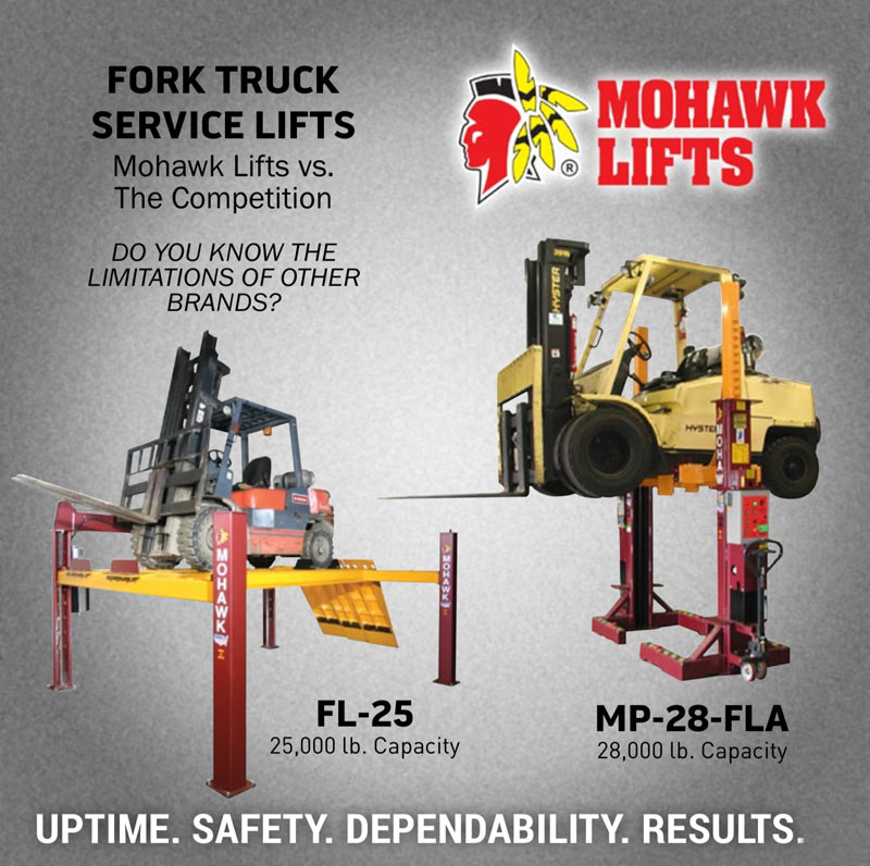 Dare to Compare: Mohawk Lifts vs. The Competition - Fork Truck Service Lifts