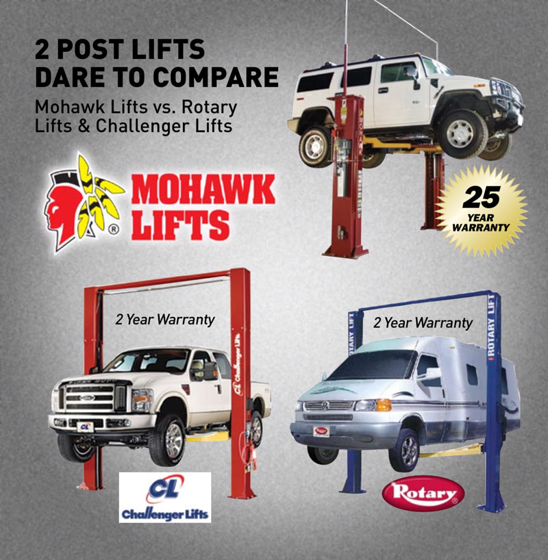 Dare to Compare: Mohawk Lifts vs. The Competition - Two Post